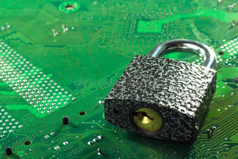 pojęcie cyber ochrona zdjęcia stock