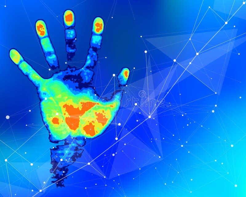 Pojęcie cyfrowej identyfikaci i rozpoznania technologie ilustracji