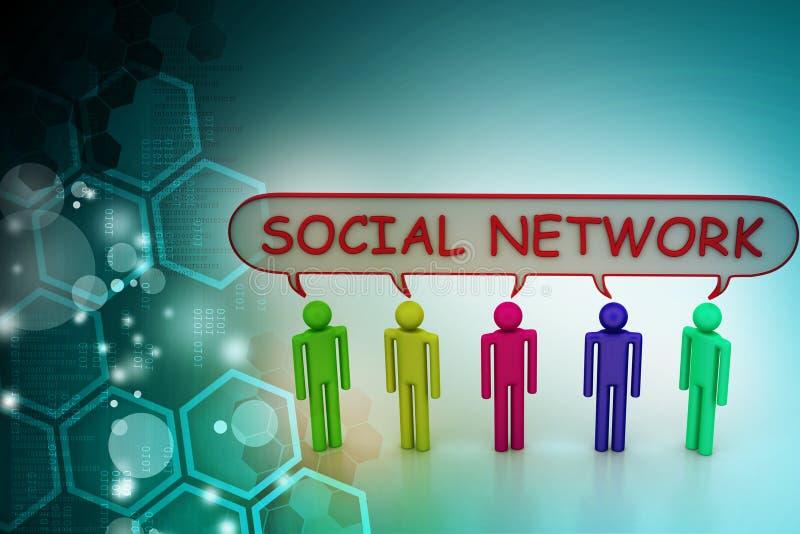 pojęcie cyfrowo wytwarzał cześć wizerunku sieci res socjalny ilustracja wektor