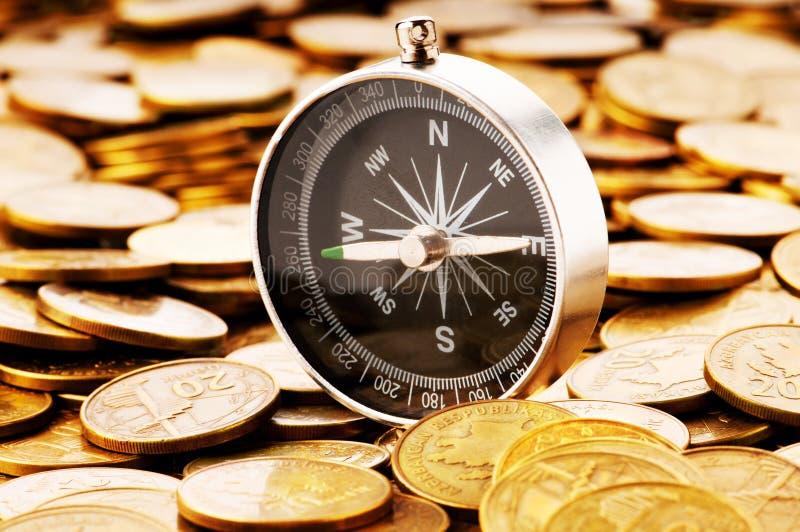 pojęcie czas trudni pieniężni target1809_0_ fotografia stock