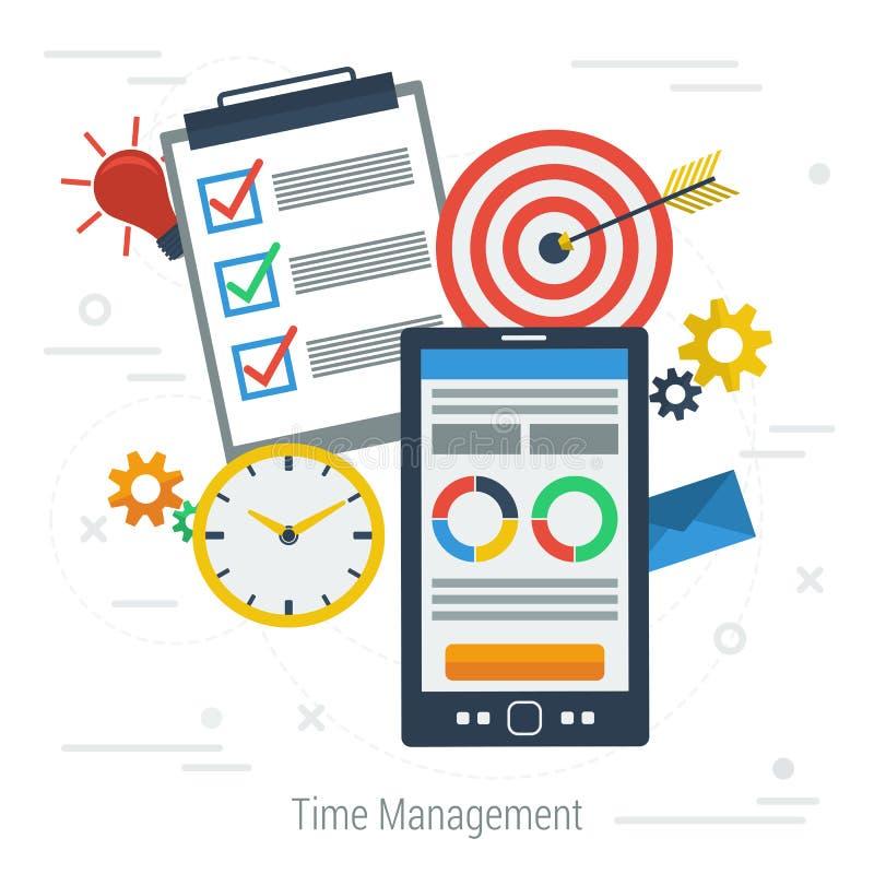 Pojęcie czasu wektorowy zarządzanie ilustracja wektor