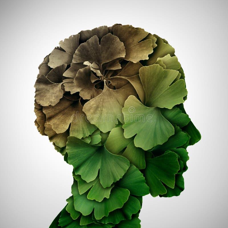 Pojęcie demencja ilustracji