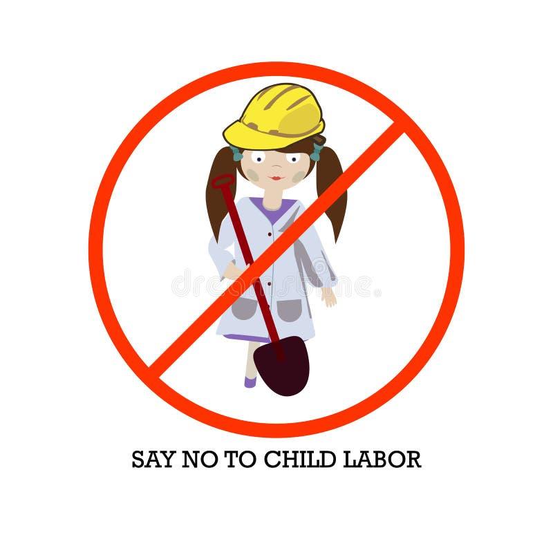 Pojęcie dla Światowego dnia Przeciw pracie dzieci