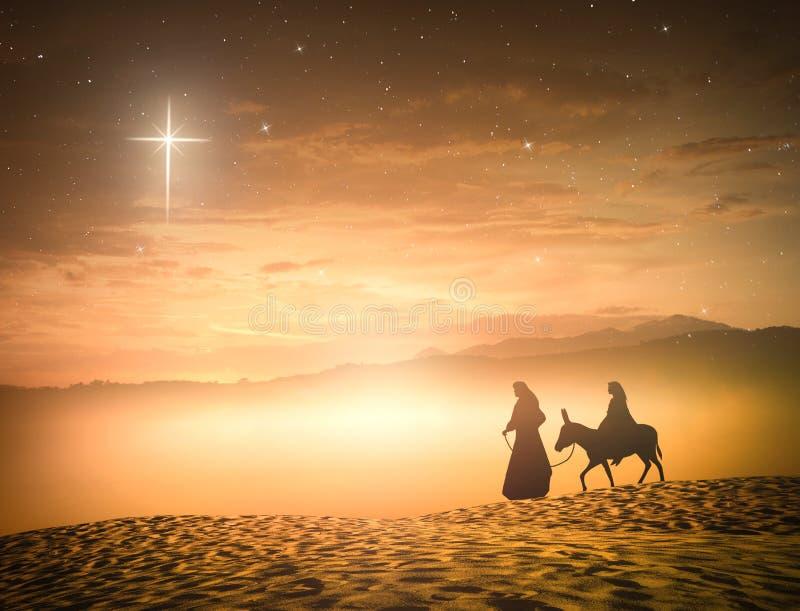 Pojęcie dla Jezus znoszącego narodzenie jezusa scena zdjęcie stock