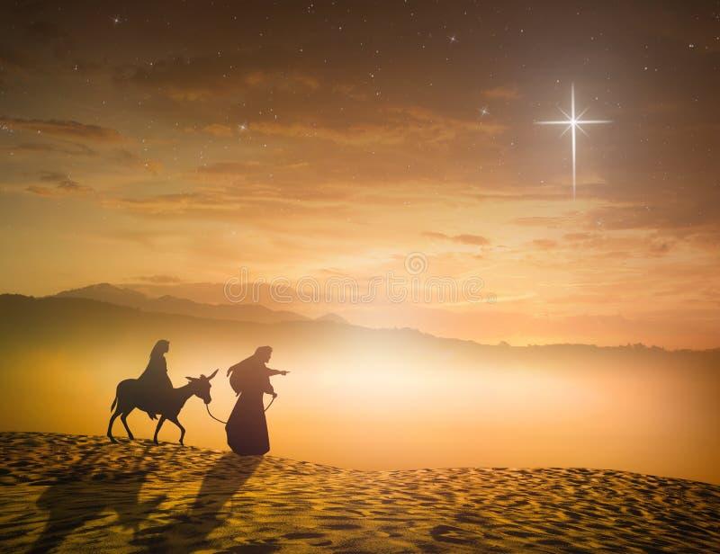 Pojęcie dla Jezus znoszącego narodzenie jezusa scena zdjęcie royalty free