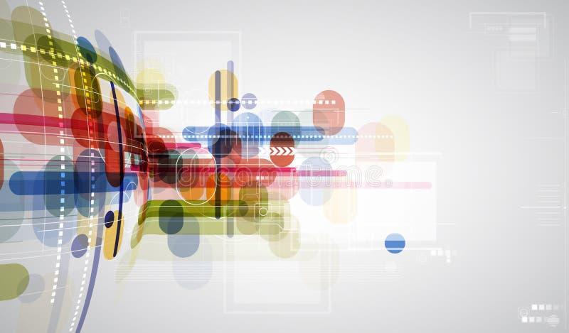 Pojęcie dla nowa technologia Korporacyjnego biznesu rozwoju & royalty ilustracja