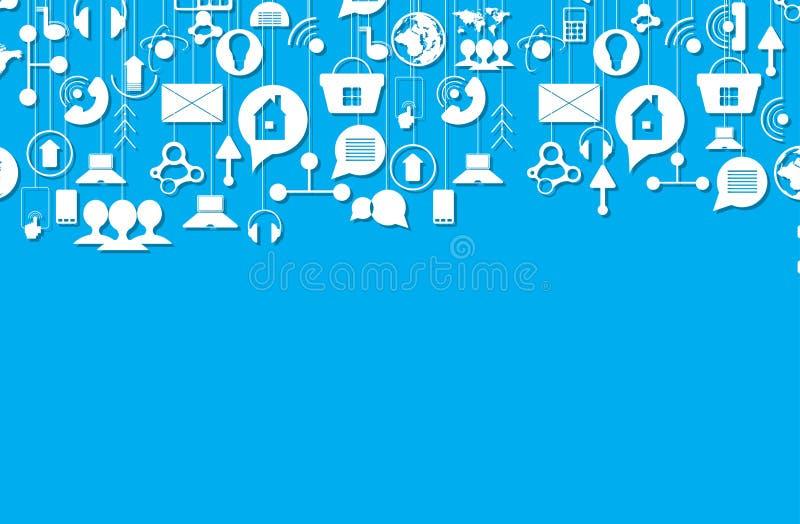 Pojęcie dla nowa technologia Korporacyjnego biznesu rozwoju & ilustracja wektor