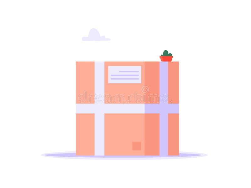 Pojęcie dostawa, wysyłka, online usługa, informacje zwrotne ilustracji