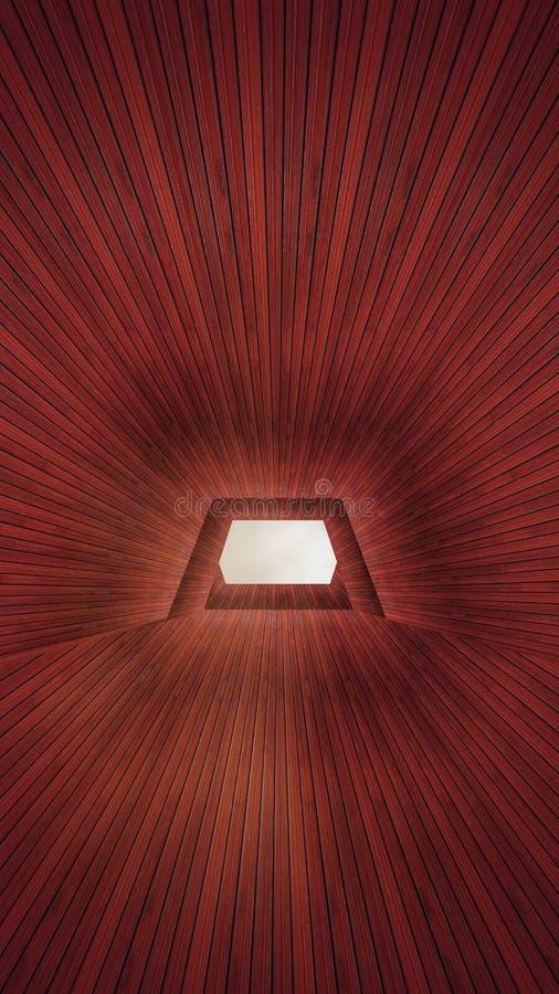 Pojęcie drewniany tunel obraz stock