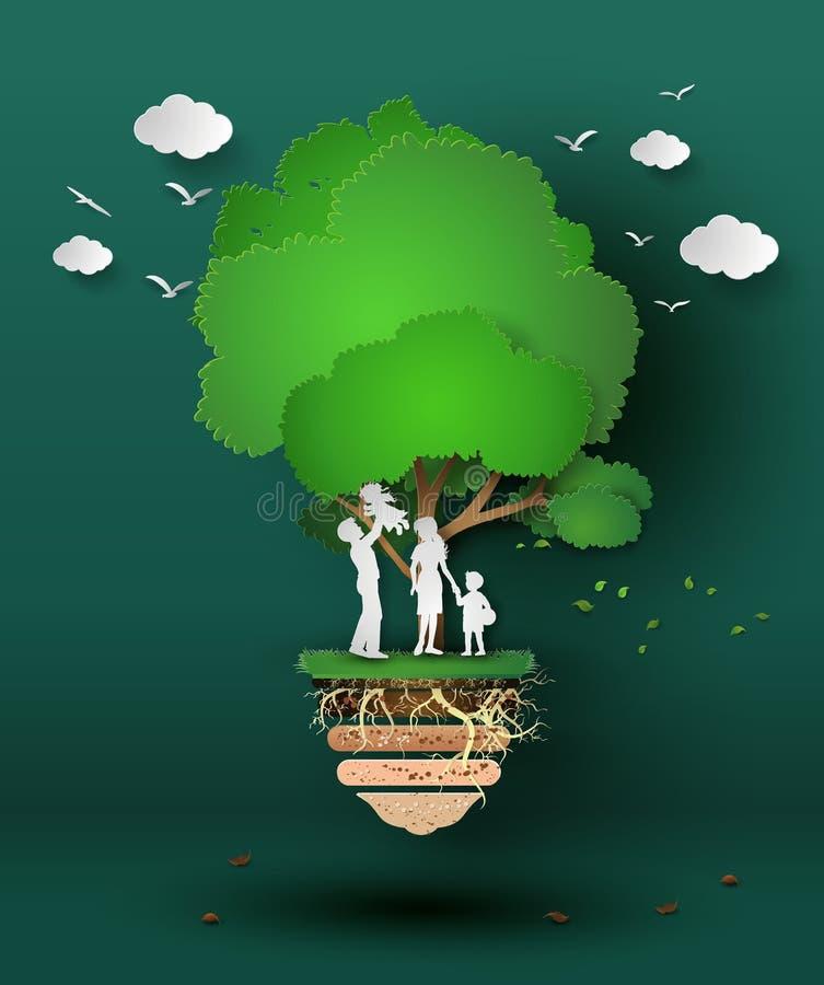 Pojęcie eco ilustracji