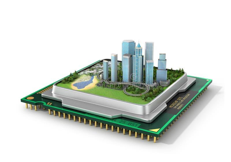 Pojęcie Eco technologia ilustracja wektor