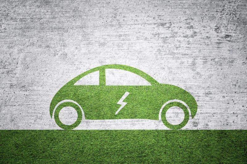 Pojęcie elektrycznego samochodu tło obrazy stock