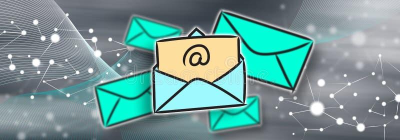 Pojęcie email ilustracja wektor
