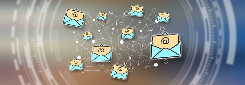 Pojęcie email ilustracji