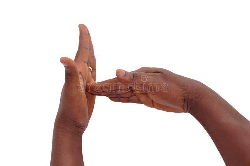 POJĘCIE gest NIEMY GŁUCHY zdjęcie stock