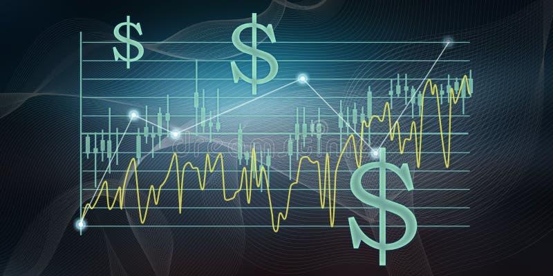 Pojęcie giełda papierów wartościowych ilustracja wektor