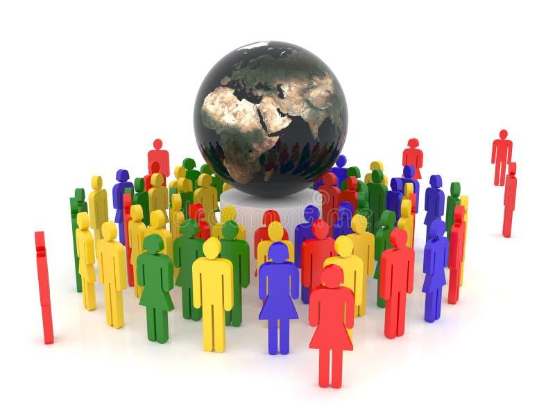 pojęcie globalizacja ilustracji