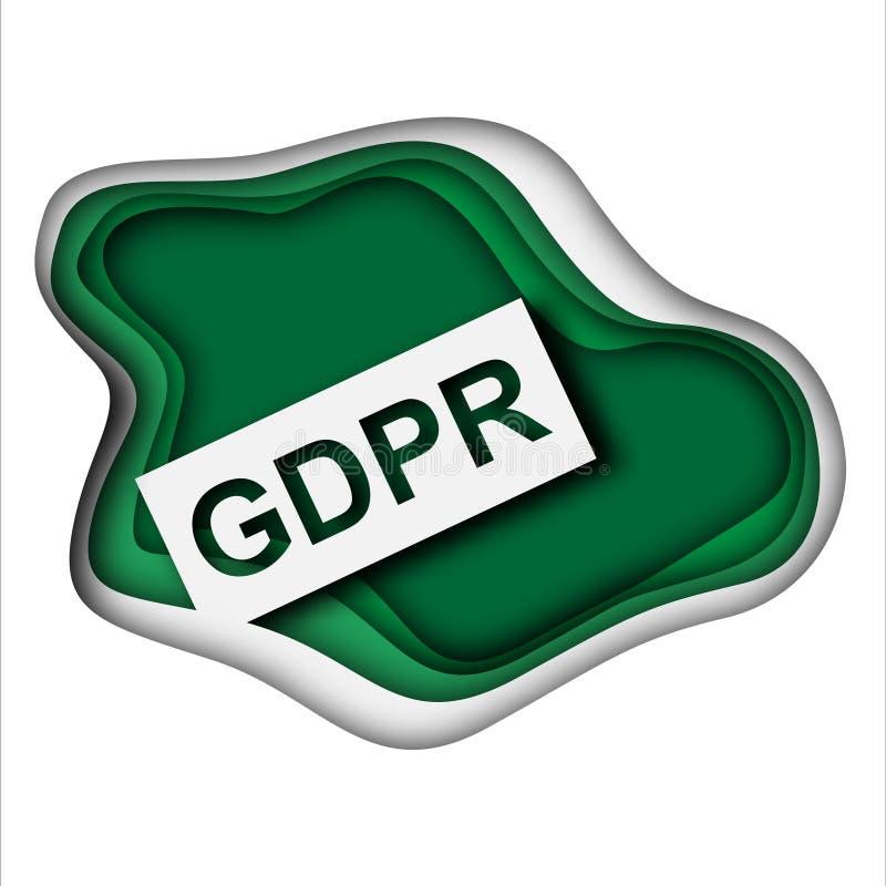 Pojęcie GRPR - ogólnych dane ochrony przepis ilustracji