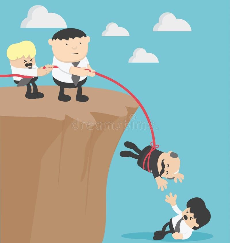 Pojęcie grupa biznesmeni pomaga przyjaciele ilustracji