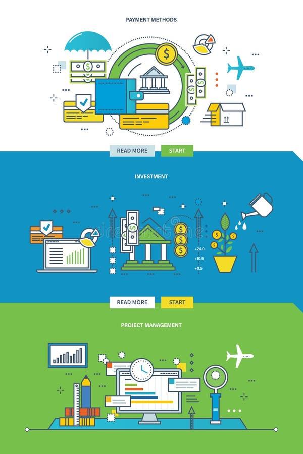 Pojęcie ilustracja - metody zapłata inwestycja i zarządzanie projektem, ilustracji