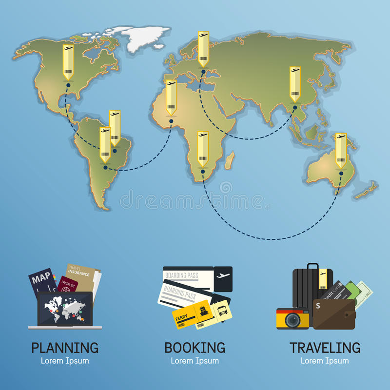 Pojęcie infographics dla podróży planowania Infographic element ilustracji