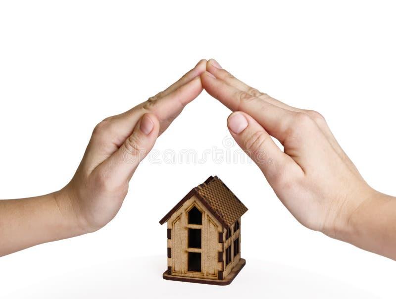 Pojęcie insuranse nieruchomości, ochrony i bezpieczeństwa dom, obraz stock