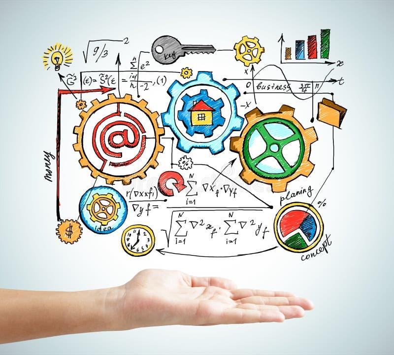 Pojęcie interakcja w biznesie fotografia stock
