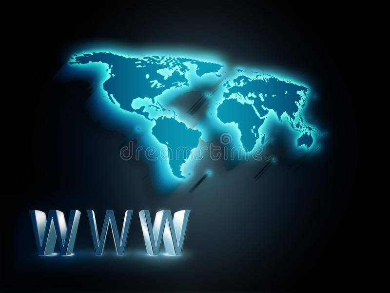 pojęcie internety royalty ilustracja
