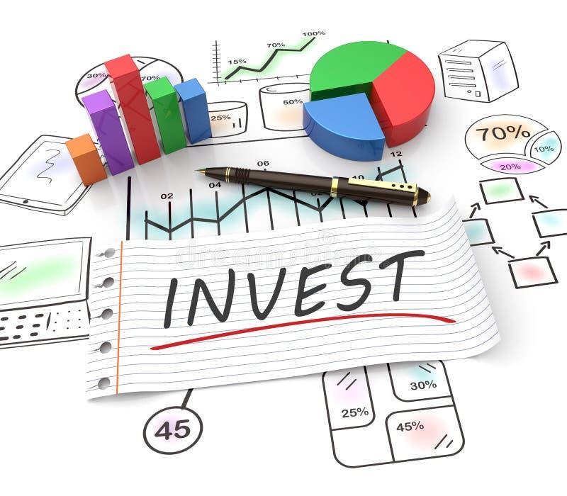 Pojęcie inwestycja ilustracji