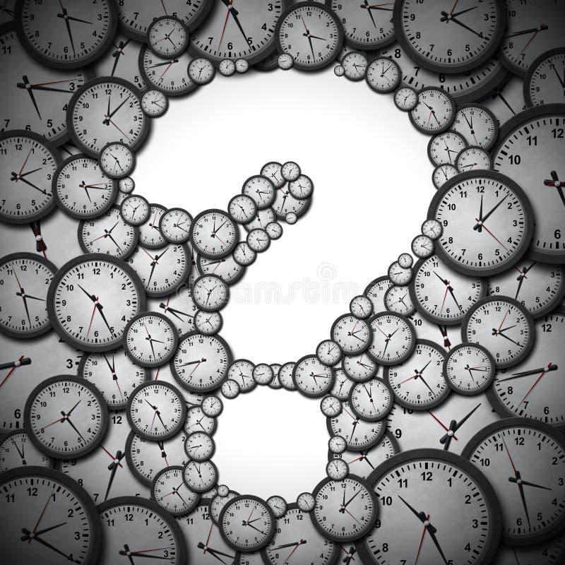 Pojęcie jako ogromne liczby zegary i timepieces z pustym a ilustracji