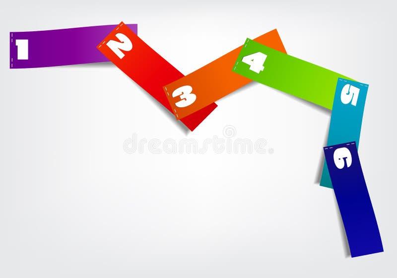 Pojęcie kolorowi sztandary dla różnego biznesu ilustracji