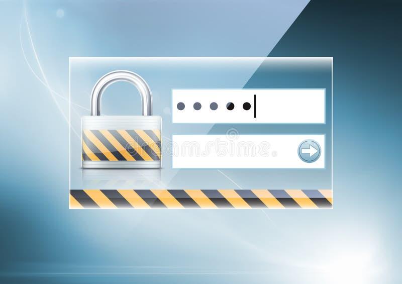 pojęcie komputerowa ochrona royalty ilustracja