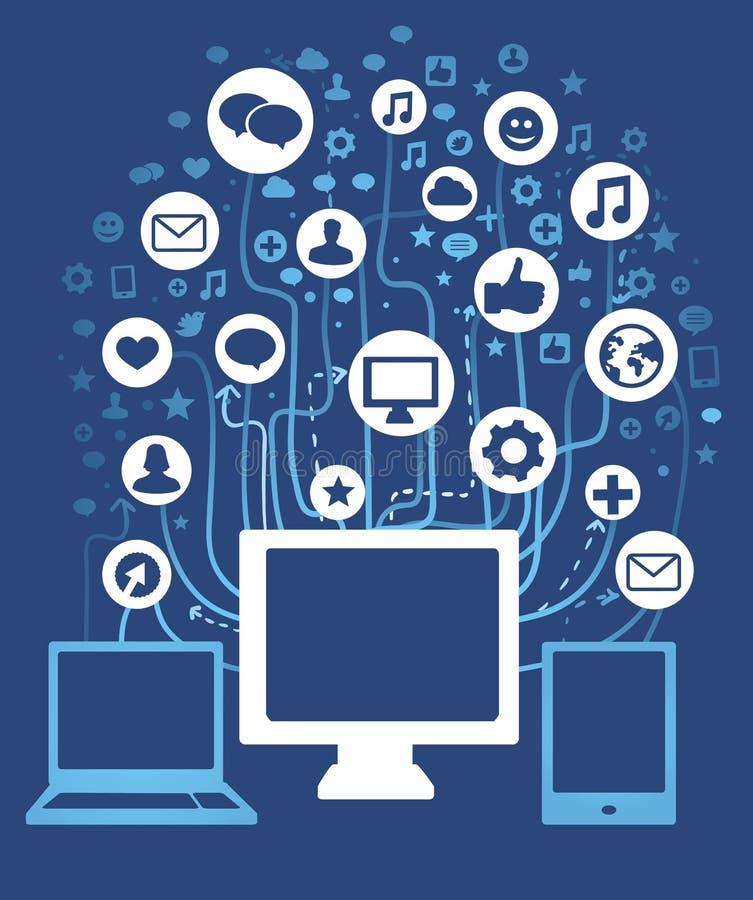 pojęcie komputerowa sieć ilustracji