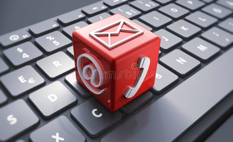 Pojęcie komunikacyjne ikony - 3D ilustracja ilustracja wektor