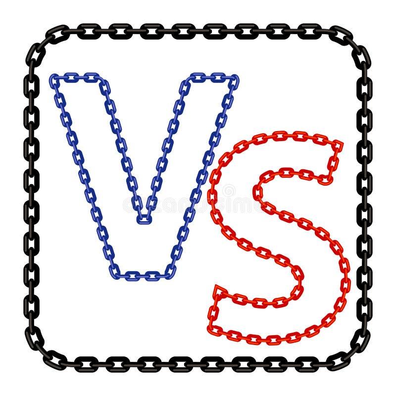Pojęcie konfrontacja, Wpólnie, dal, Definitywny bój Versus list walki tło VS royalty ilustracja