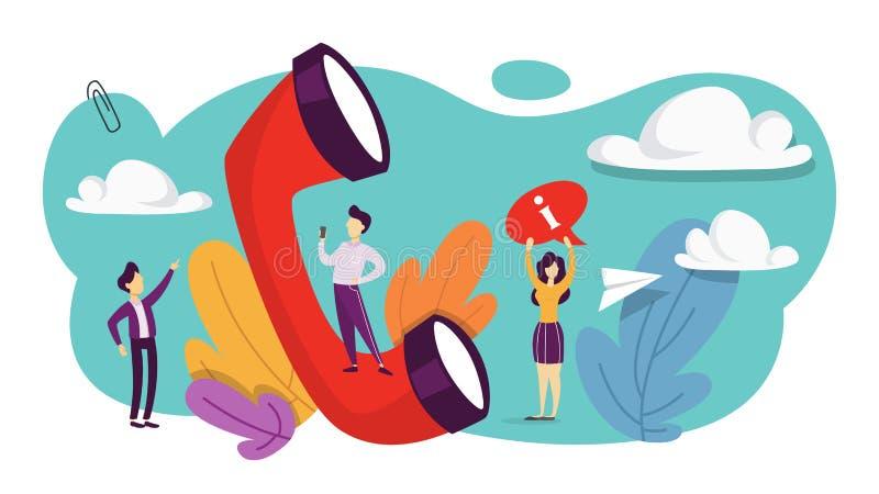 pojęcie kontakt my Pomysł serwis pomocy ilustracji