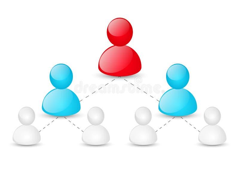 Pojęcie korporacyjna hierarchia royalty ilustracja