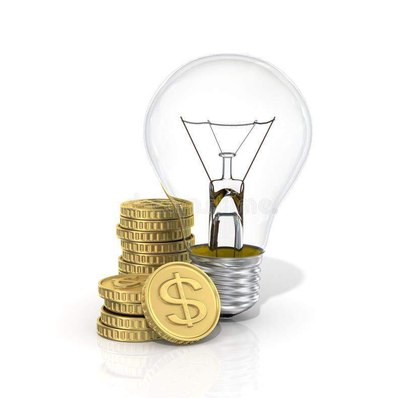 Pojęcie koszty energii zdjęcie stock