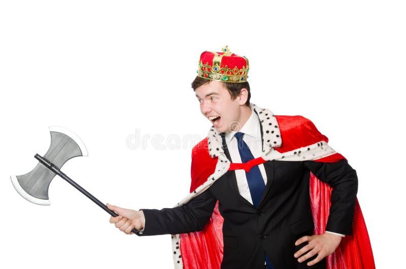 Pojęcie królewiątko biznesmen zdjęcie stock