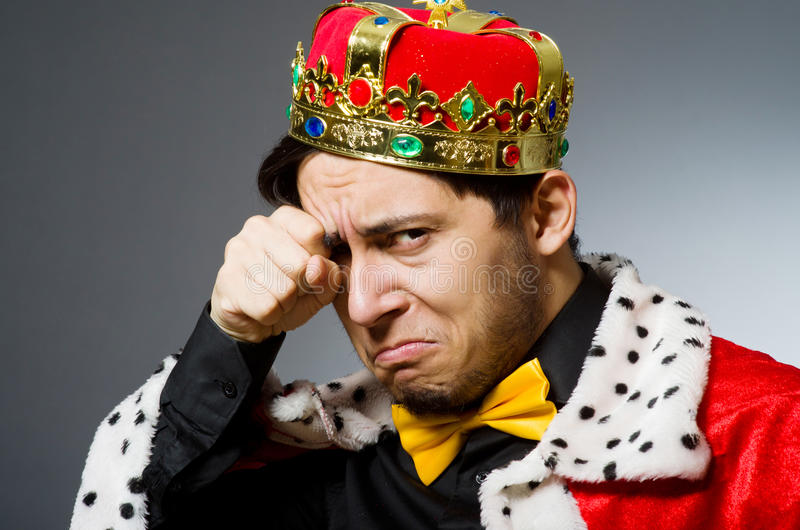 Pojęcie królewiątko biznesmen fotografia royalty free