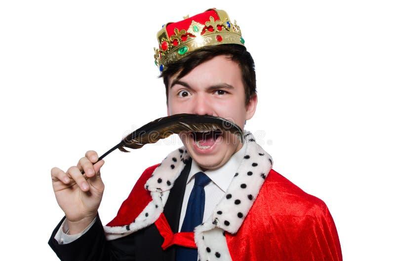 Pojęcie królewiątko biznesmen zdjęcia royalty free