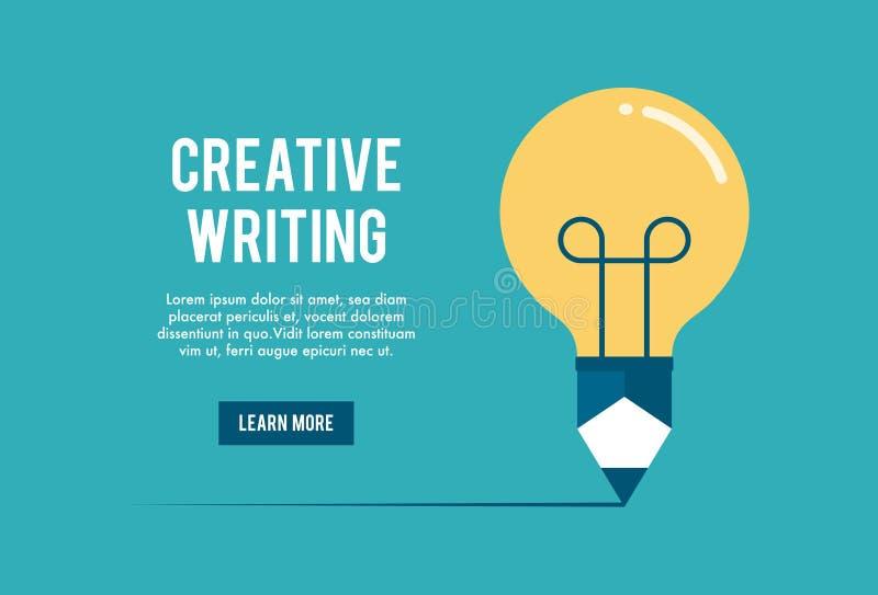 Pojęcie kreatywnie writing warsztat ilustracja wektor