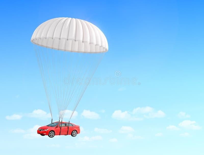 Pojęcie leasing Szybki doręczeniowy samochód obrazy stock