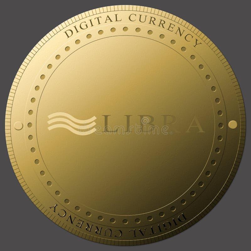 Pojęcie Libra Cryptocurrency waluty nowa cyfrowa moneta zdjęcia royalty free