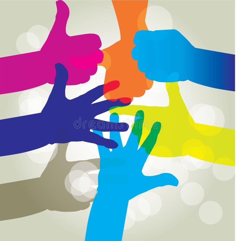 Pojęcie ludzka spółdzielnia i jedność ilustracja wektor