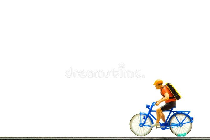Pojęcie, mężczyzna plecaka Na bicyklu, zdjęcia royalty free