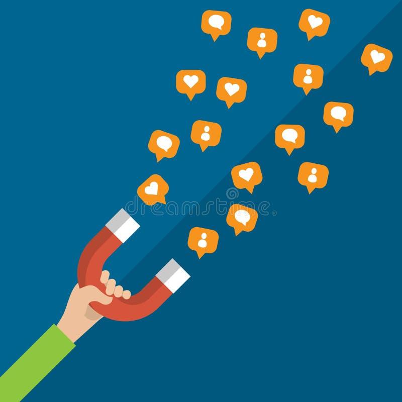 Pojęcie marketingu i socjalny sieci ilustracja wektor