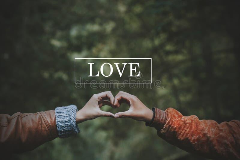 Pojęcie miłość i przyjaźń obrazy stock
