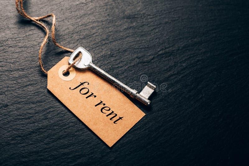 Pojęcie nieruchomość czynsz zdjęcia stock