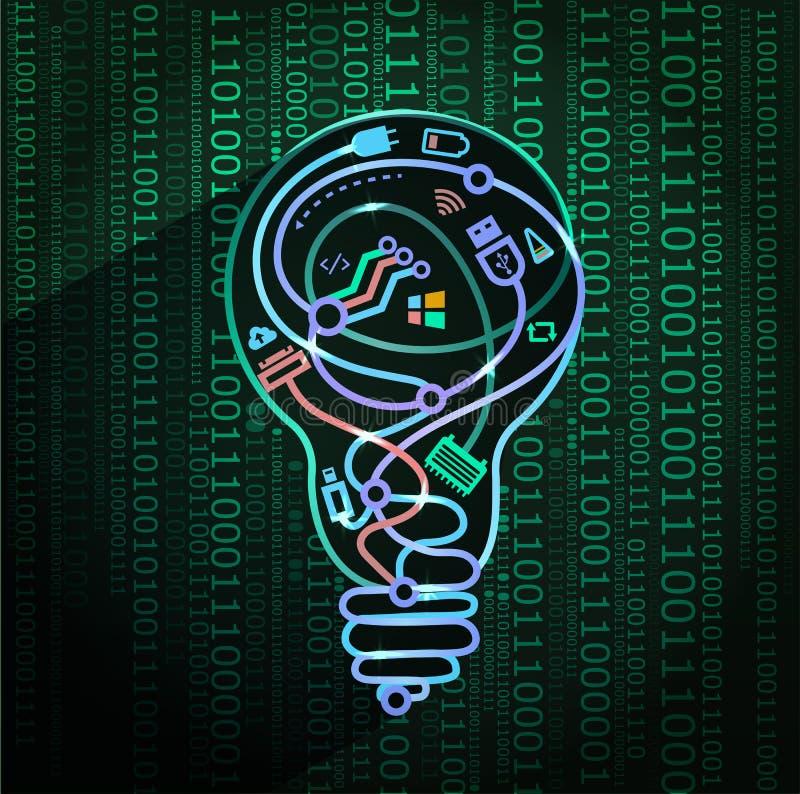 Pojęcie nowe technologie, 3d ilustracja wektor